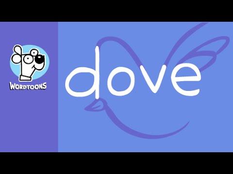 - Draw the word dove into a cartoon dove - Wordtoon Dove    (  Bonus Hippy Version )