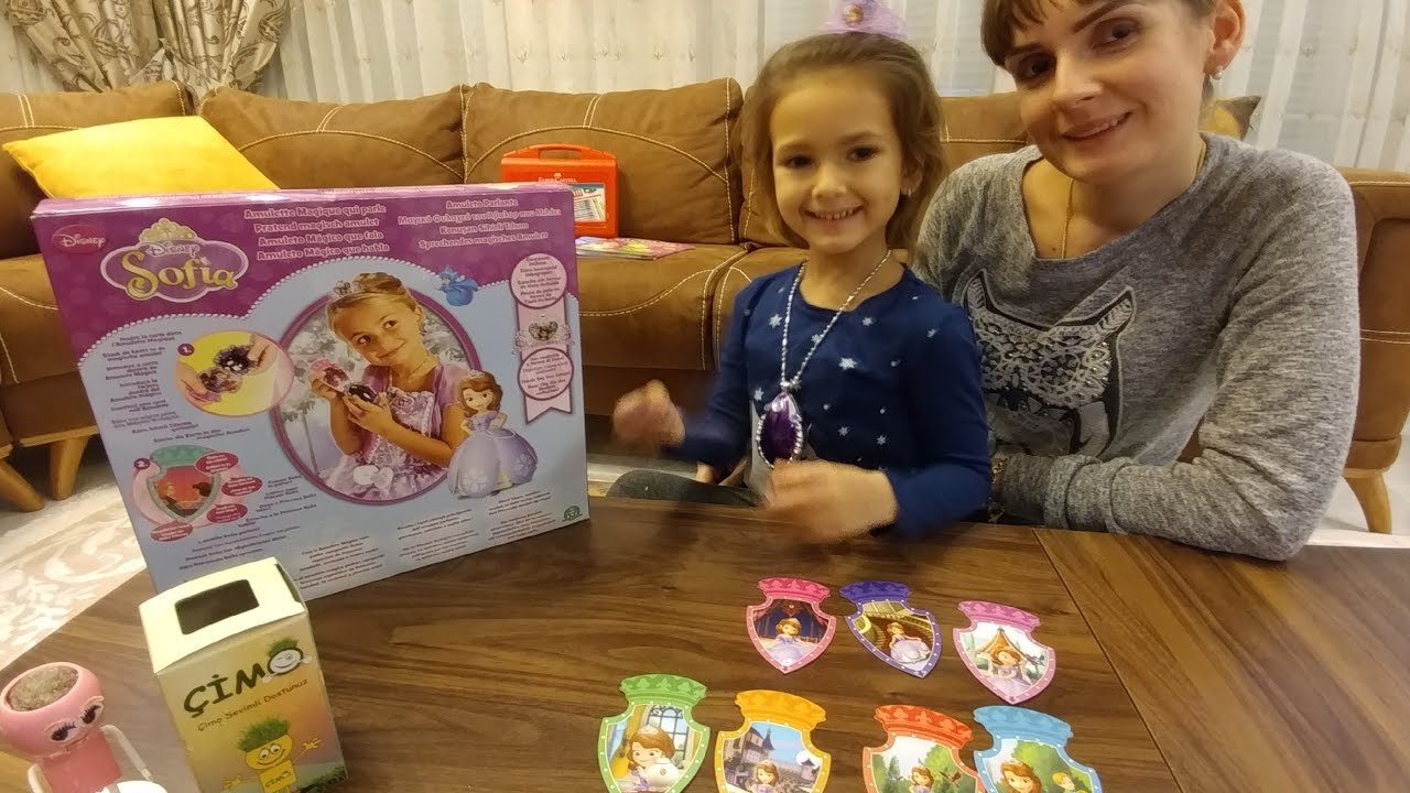 Prenses Sofianın sihirli kolyesi oyuncak kutusu açtık, eğlenceli çocuk videosu, toys unboxing