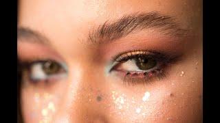 Макияж с цветными акцентами Фантазийный макияж