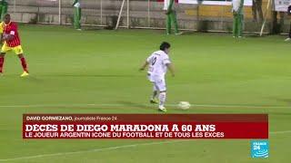 Décès de Diego Maradona : le joueur argentin icône du football et de tous les excès