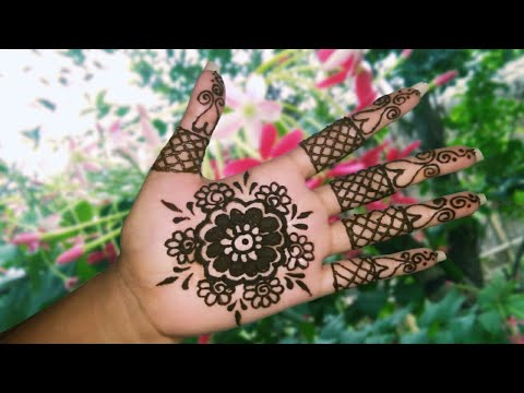Henna Tattoo Tutorial For Beginners Simple And Easy Floral Mehndi