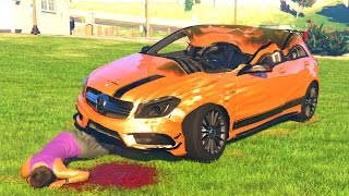 GTA 5 Crash Testing Mercedes Benz A45 AMG MOD