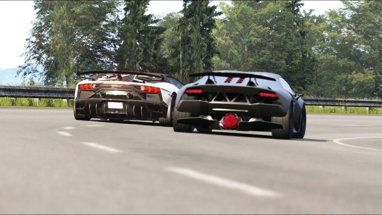 Onboard Lamborghini Sesto Elemento Vs Lamborghini Svj 63 At