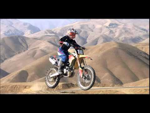 Iranian woman motorcycle rider Shafiei jumps barriers