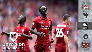 El 'Chicharito' ni tocó el balón en el descalabro del West Ham ante el Liverpool