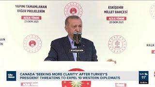 Canada 'seeking more clarity' after Erdogan's threat to expel envoys