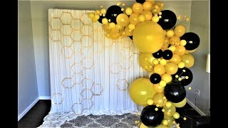 Bumble Bee Balloon Garland Backrop DIY | How To