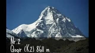 Die 5  höchsten Berge der Welt