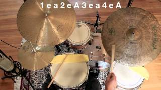 drum lesson introduction to jazz drumming part 1 the basic pattern