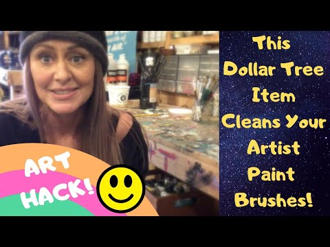 ART HACK: This Dollar Tree Item Cleans Art Paint Brushes
