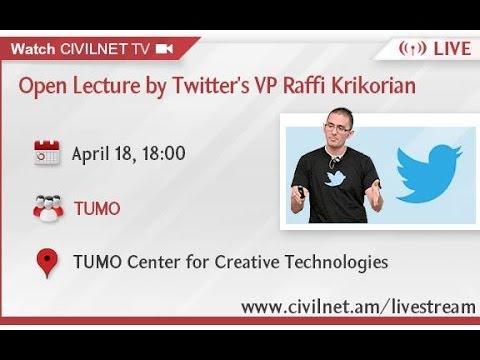 LIVE. Twitter VP Raffi Krikorian Open Lecture