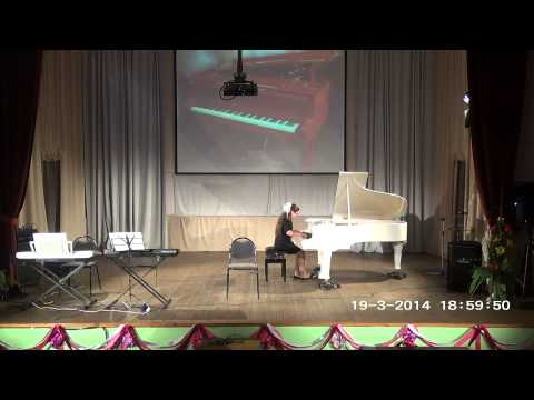 Отчетный концерт фортепианного отдела - 2014 И.С. Бах Партита 2 до минор исп. Литвинова Мария