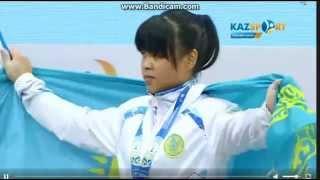 Ауыр атлетикадан Әлем чемпионатында Зульфия Чиншанло Алматыда 2014-15 мировым рекордом