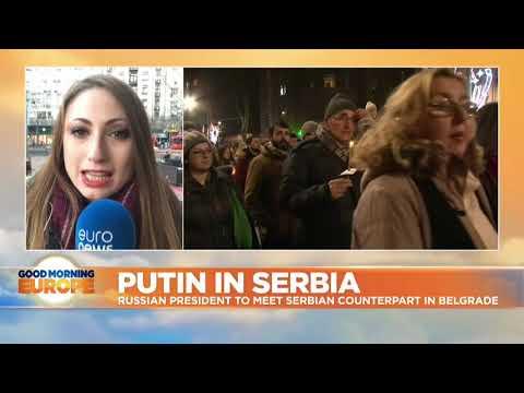 Putin visits Serbia