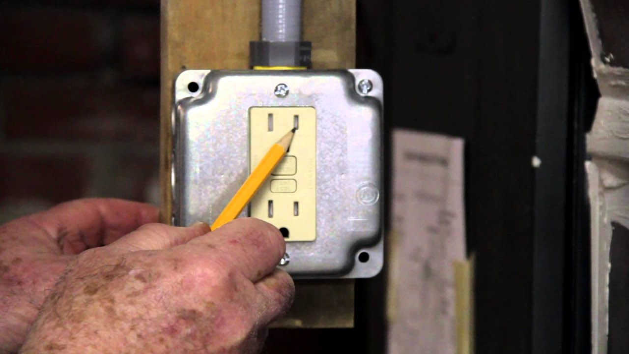 How To Defeat A Gfci Tamper Resistant Receptacale Youtube 15 Amp Circuit Guard Receptacle White Hd
