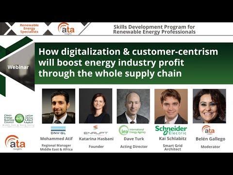 Webinar:  Digitalization & customer-centrism for the energy industry