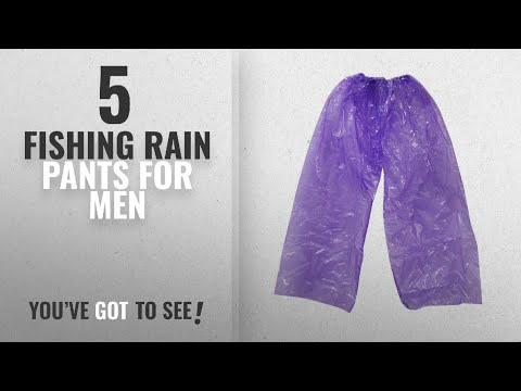 Top 10 Fishing Rain Pants For Men [2018]: SelfTek Disposable Waterproof Pants For Festivals Concert