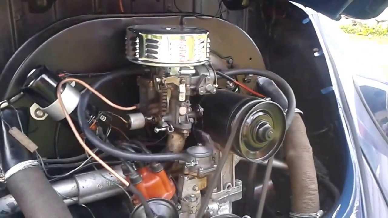 Motor Vw 1500 >> Vw Beetle Engine 1500 Ccm Youtube