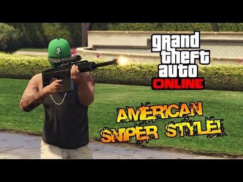 AMERICAN SNIPER STYLE! - GTA 5 Cazzeggio Funny Moments | xDegsta (Re-upload)
