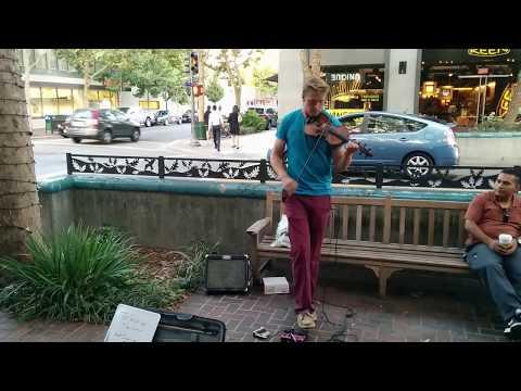 Street Musician Down Town Palo Alto