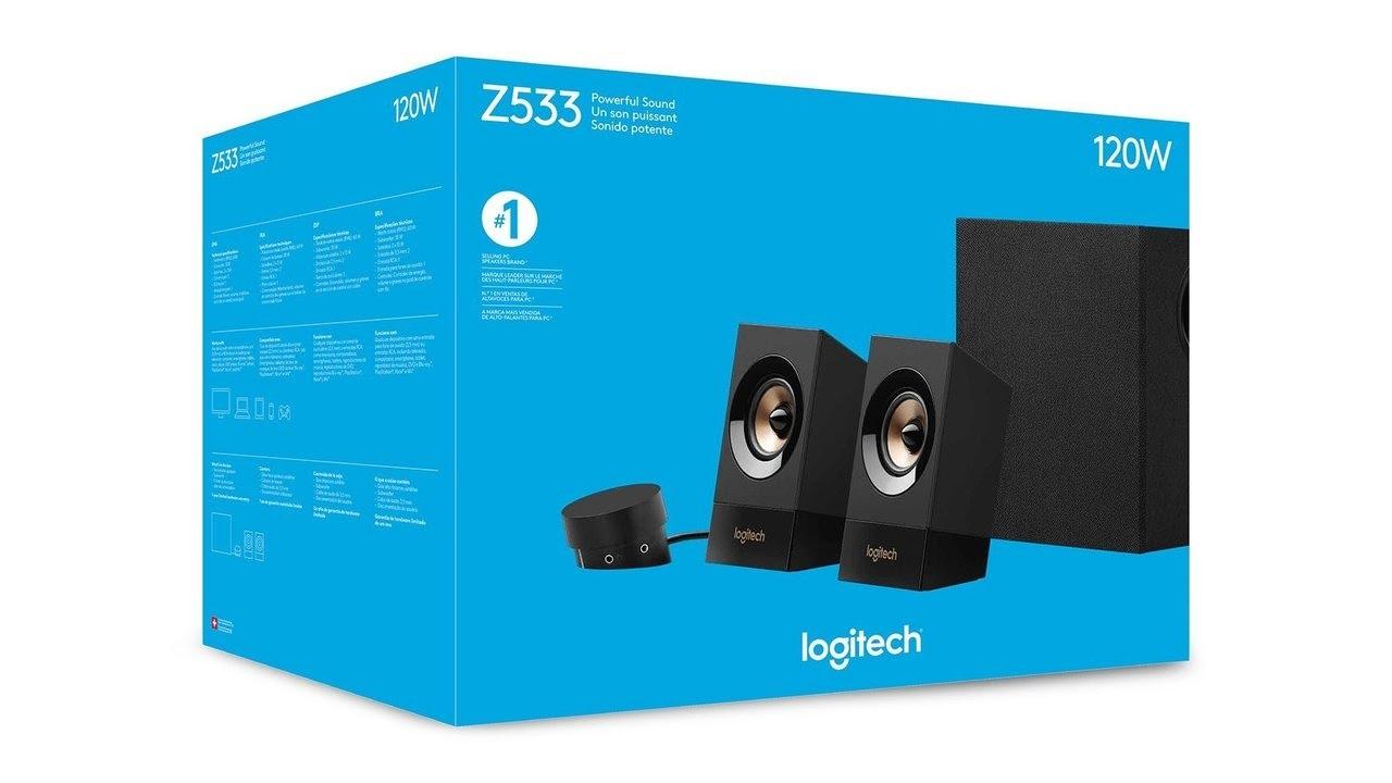 Logitech Z533 UK-Plug Multimedia Speaker System with Subwoofer - YouTube