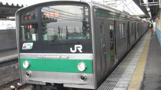 【JR東日本】205系 川越線 日進駅で撮影