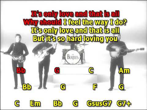 It's Only Love Beatles best karaoke instrumental lyrics chords