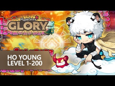MapleStory Ho Young Level 1-200 In 1hr 45mins!