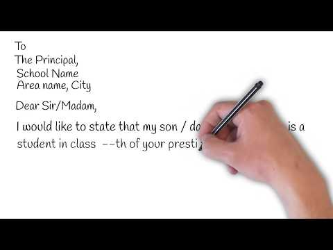 Letter From Parents To Principal For Sick Leave | Smart Learning Tube
