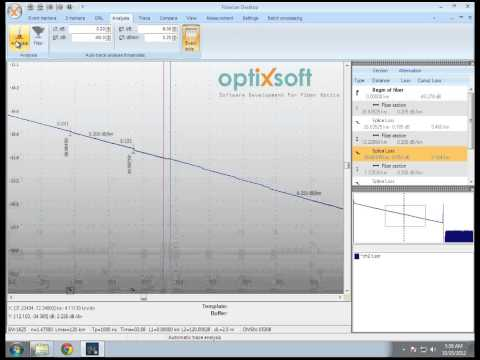 Fiberizer Desktop OTDR trace viewer - YouTube