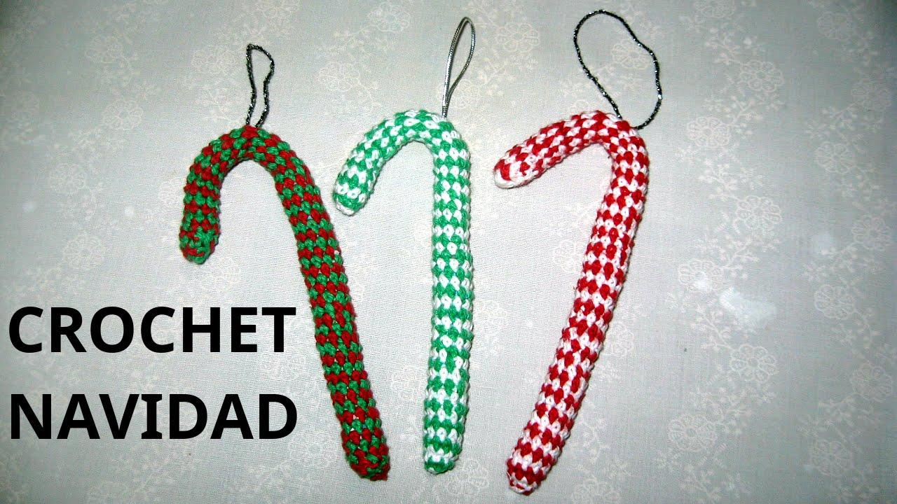 Como tejer Bastoncito de Navidad en tejido crochet tutorial paso a ...