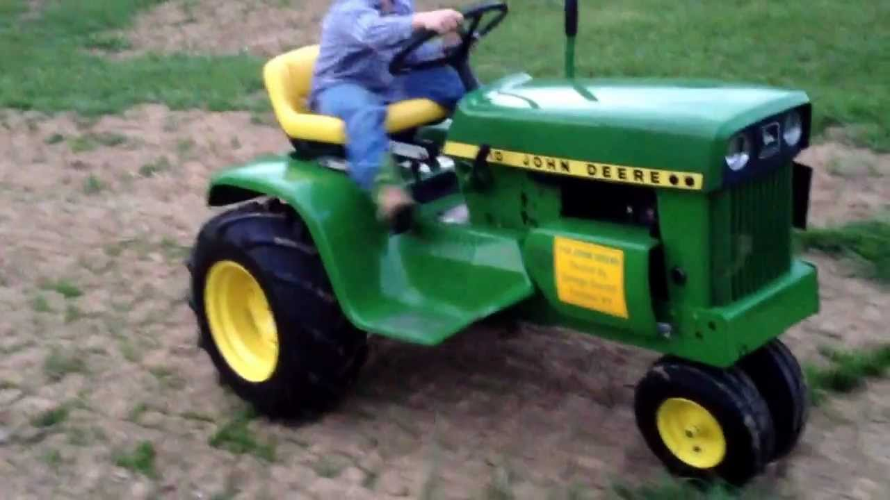 John Deere 110 Narrow Front : John deere narrow front end tricycle youtube