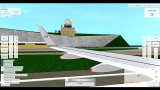 ROBLOX - Velocity Flight Simulator : A320 Takeoff (wing view)