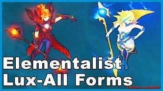 Elementalist Lux - All Forms Skin Spotlight (League of Legends)