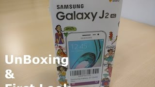 [Hindi] Samsung Galaxy J2 Unboxing and Quick Look Video.