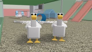 ROBLOX: MY MOTHER AND I BECAME DUCKS FLEEING THE HUNTER!!! (Escape Me!)