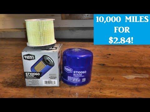 Walmart Super Tech Oil Filter   10,000 Mile Protection For Under $3