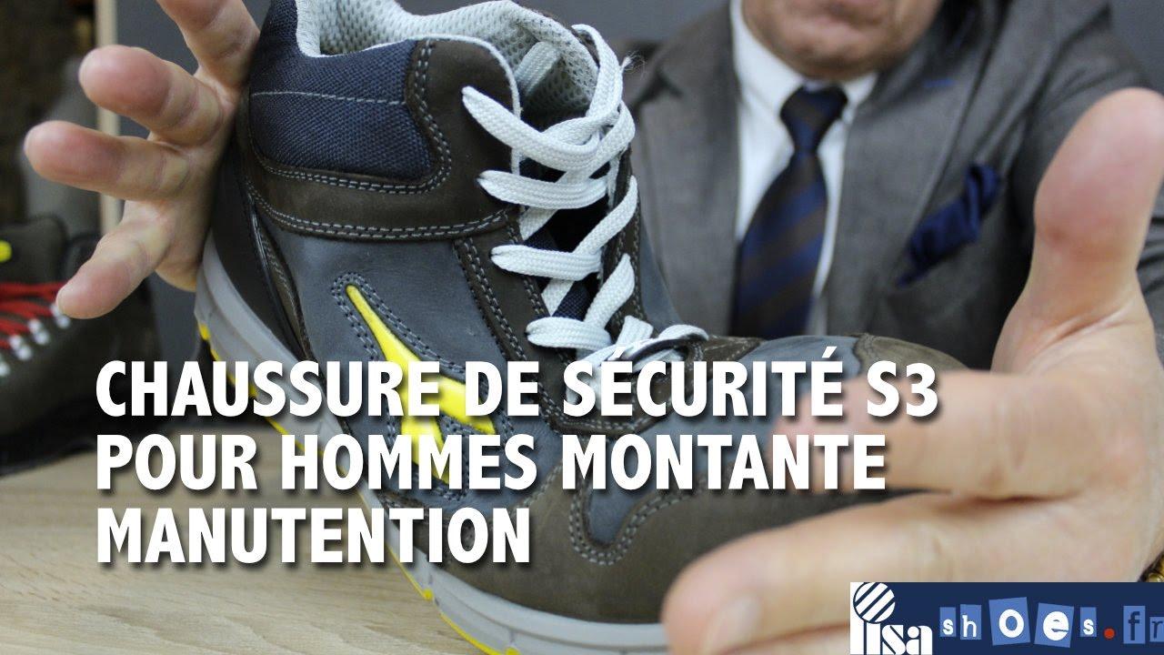 525db6a388f0f4 CHAUSSURE DE SÉCURITÉ HOMME HAUTE DIADORA S3. Lisashoes / Lisavet