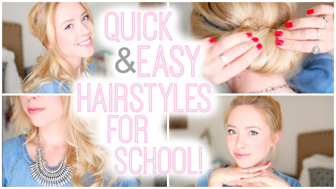 easy quick hair styles and easy hairstyles for school 2015 8613 | maxresdefault