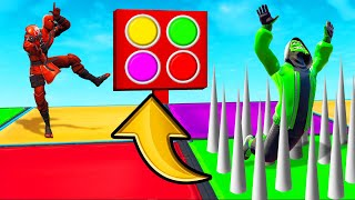 WRONG COLOR = DEATH! (Fortnite Color Game)