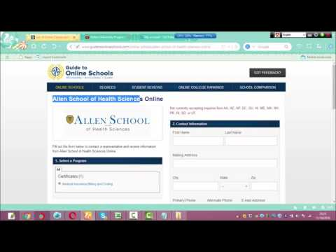 Allen School of Health Sciences Online |  Medical Insurance Billing and Coding