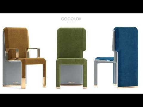 """№118. Моделирование стульев """" My Design"""" в 3d Max"""