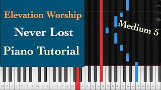 never lost - elevation worship piano tutorial instrumental cover