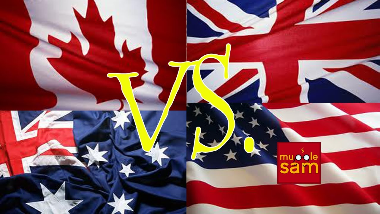 Canada Vs Usa Australia United
