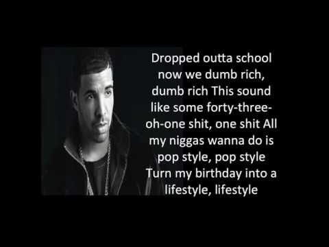 Drake - pop style Lyrics