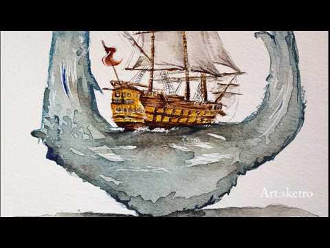 Sailing Ship Drawing Time-lapse
