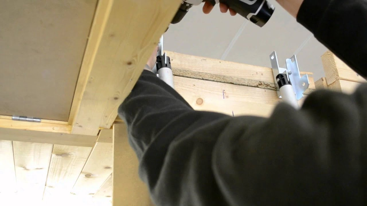 New Youngman Telescopic Loft Ladder   YouTube