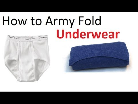 How to pair a fold of underwear