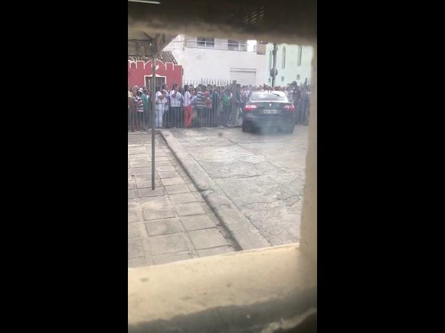 Protesto em frente ao Forum de Jaguarari 01