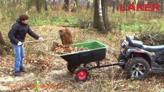 видео кузовной прицеп для квадроцикла